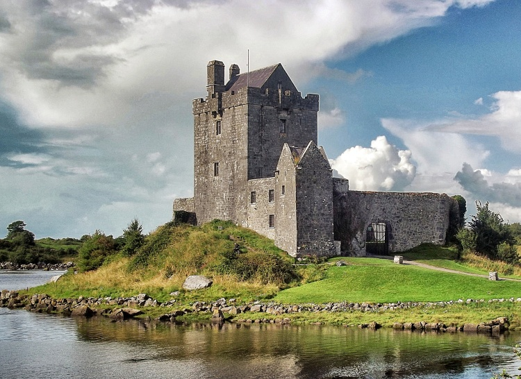 Standing tall, Dunguaire Castle, Co. Galway.